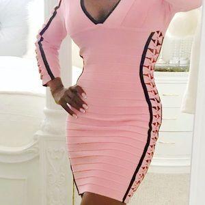 Pink/Black Dress Runs Big